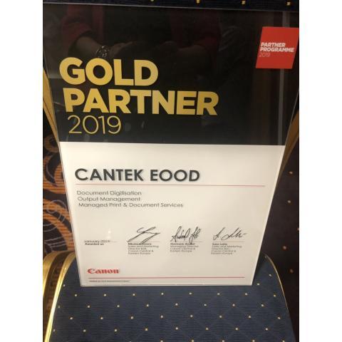Кантек - златен партньор на Канон 2019